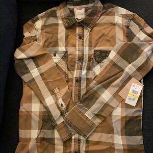 Tan & Gray Levi's Flannel